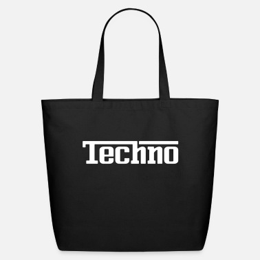 Techno Red Techno - Eco-Friendly Tote Bag