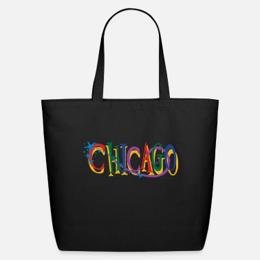 Chicago CHICAGO-STARS-copy - Eco-Friendly Tote Bag