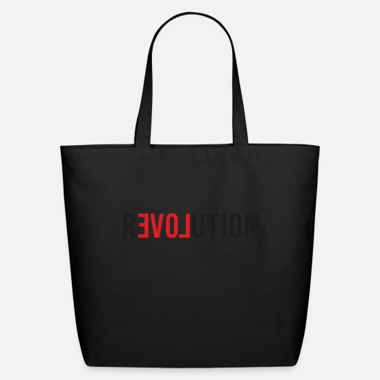 Love Bags & Backpacks - LOVE REVOLUTION - Eco-Friendly Tote Bag black