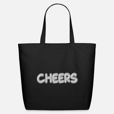 Speech Balloon Cheers Silver Foil Balloons - Eco-Friendly Tote Bag