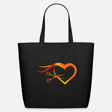 Hair Barber scissors with a strand of hair - Eco-Friendly Tote Bag