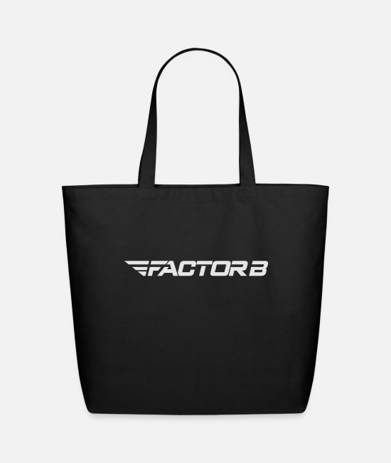 Factorb Bags & Backpacks - FBW White - Eco-Friendly Tote Bag black