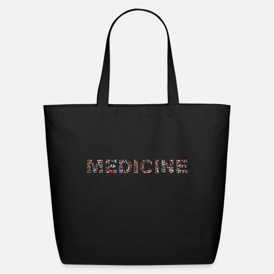 Art Bags & Backpacks - Medical Icons Medicine Typography - Eco-Friendly Tote Bag black