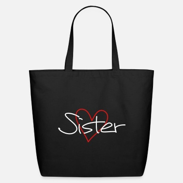 Sister sister heart favorite sister gift - Eco-Friendly Tote Bag