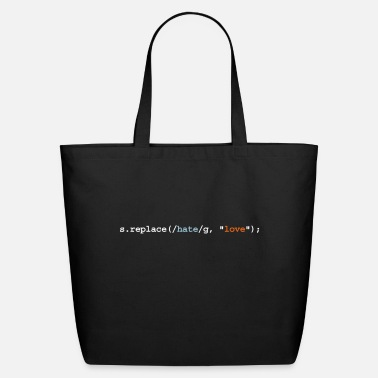 Mobile replace hate with love - Eco-Friendly Tote Bag