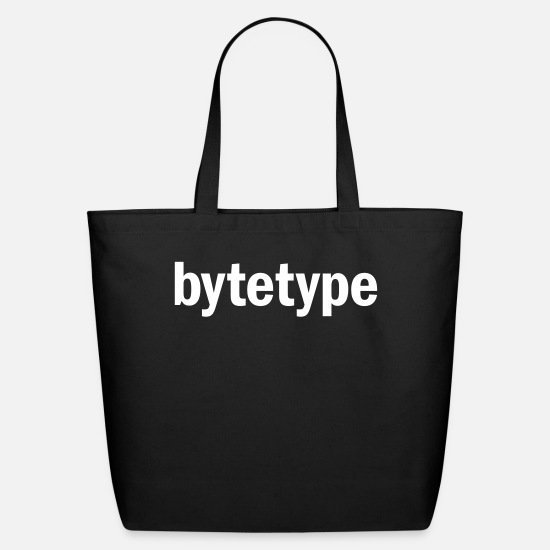 Typography Bags & Backpacks - bytetype, 1 Color - Eco-Friendly Tote Bag black