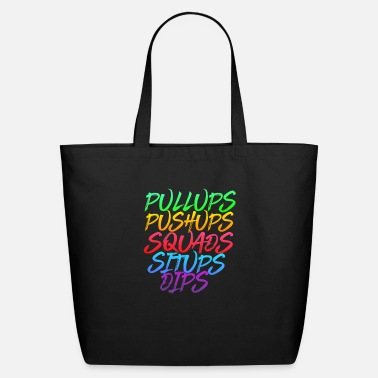 Calisthenics Street Workout Exercises Colorful Tote Bag
