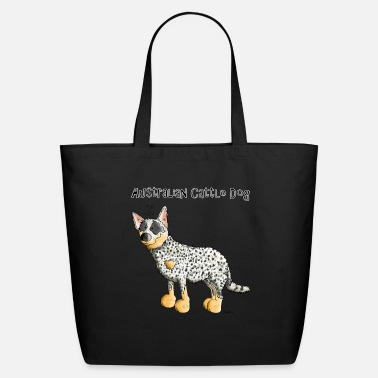 Australian Cattle Dogs Cartoon Cute Australian Cattle Dog - Dogs - Eco-Friendly Tote Bag