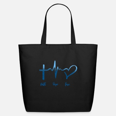 Love Faith Hope Love - Eco-Friendly Tote Bag