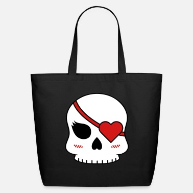Eye Patch Cute skull with eye patch - Eco-Friendly Tote Bag