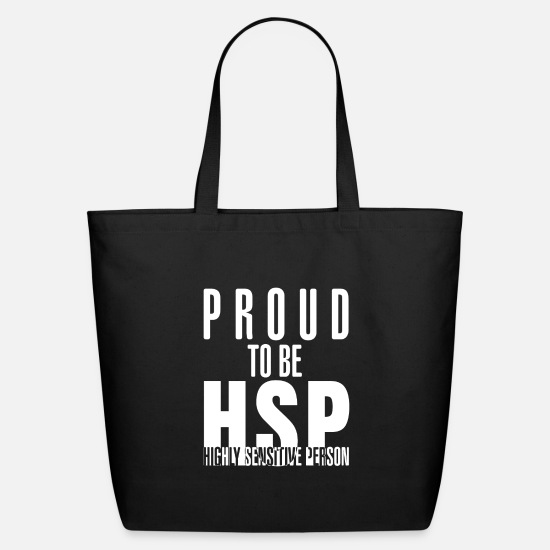 Mirror Bags & Backpacks - Proud To Be HSP Highly Sensitive Person Gift - Eco-Friendly Tote Bag black
