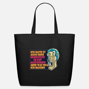 Serious Keep your distance - be careful to stay healthy - Eco-Friendly Tote Bag
