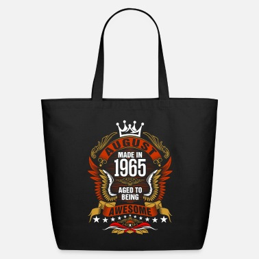 August Made In 1965 Aged To Being Awesome Tshirt - Eco-Friendly Tote Bag