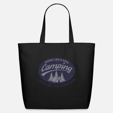 Irony Irony of Camping - Eco-Friendly Tote Bag