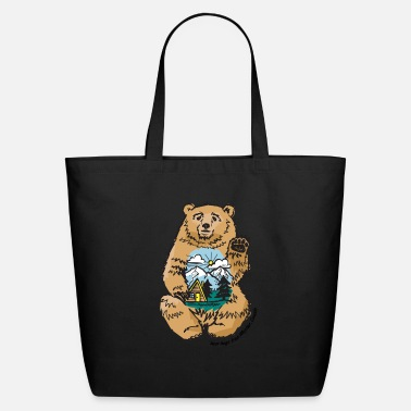 Ginette Guiver happy belly bear - Eco-Friendly Tote Bag