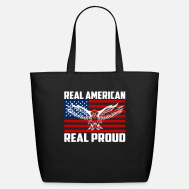 Eagle 4th of July T-shirt With USA Flag Bald Eagle - Eco-Friendly Tote Bag