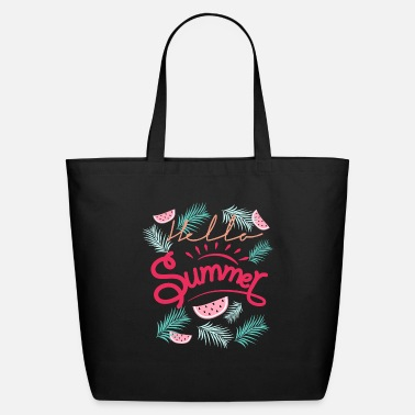 Pink Watermelon Hello Summer watermelon T-Shirt - Eco-Friendly Tote Bag