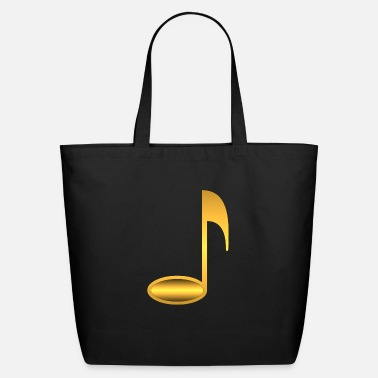 Instrument Music note1 gold - Eco-Friendly Tote Bag