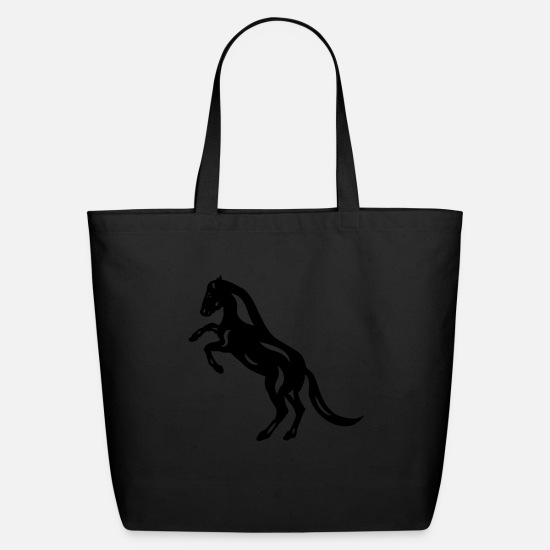 Horse Bags & backpacks - Abstract horse Emma - Eco-Friendly Tote Bag black