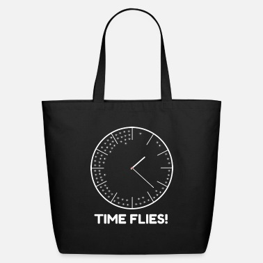 Clock Time Flies! Ironic Clock - Eco-Friendly Tote Bag