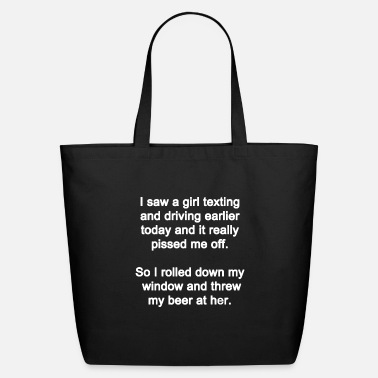 Cell I Saw a Girl Texting - Eco-Friendly Tote Bag