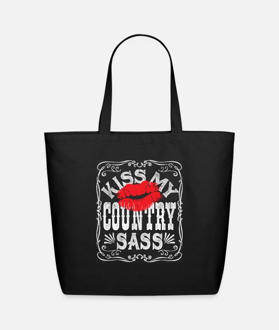 Schland Bags & Backpacks - KISS MY COUNTRY SASS - Eco-Friendly Tote Bag black