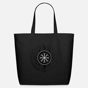 Aegishjalmur Ægishjálmur viking rune of the north - Eco-Friendly Tote Bag