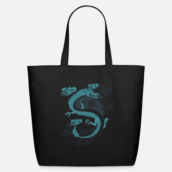 Dragonfly Bags & Backpacks - BLUE_DRAGON - Eco-Friendly Tote Bag black