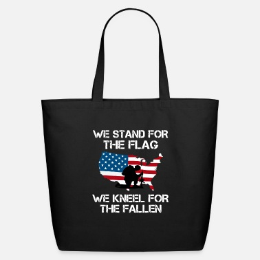 We Kneel For We Stand For The Flag, We Kneel For the Fallen - Eco-Friendly Tote Bag