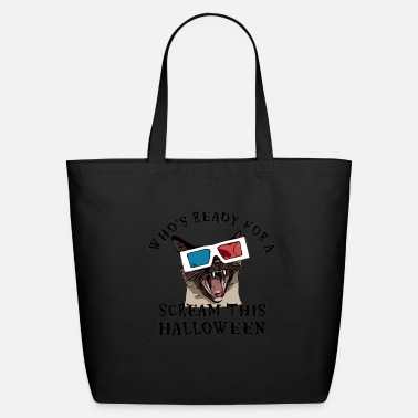 Who's Ready for a Scream this Halloween T-Shirt - Eco-Friendly Tote Bag