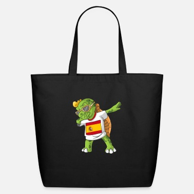 Spain Fan Spain Dabbing Turtle - Eco-Friendly Tote Bag