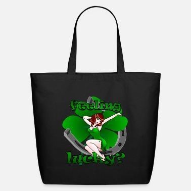 Page St Patrick's Lucky Pin Up Girl Art - Eco-Friendly Tote Bag