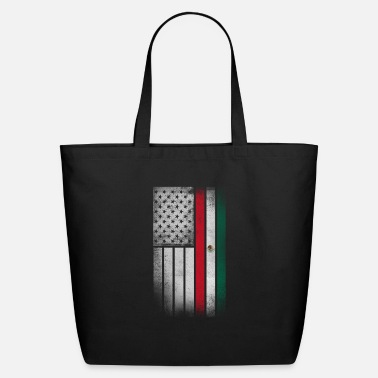 Mexican Mexican American Flag - Half Mexican Half American - Eco-Friendly Tote Bag
