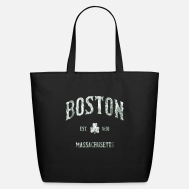 Boston Marathon Boston Massachusetts T Shirt Vintage Shamrock Spor - Eco-Friendly Tote Bag