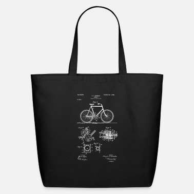 Bike Vintage Patent Print 1900 Bicycle Cycling Design - Eco-Friendly Tote Bag