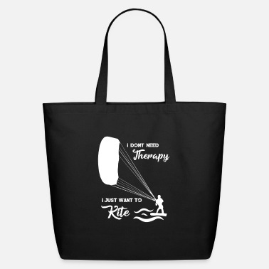 Surf Kitesurfing T-Shirt Kiten Kiteboard No therapy - Eco-Friendly Tote Bag