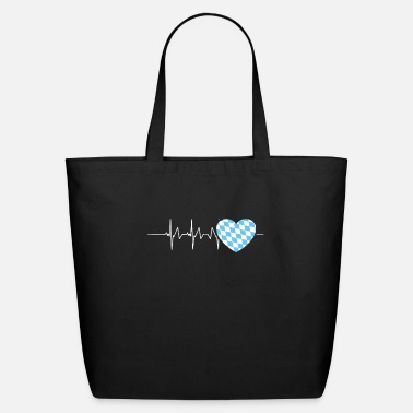 Southern Germany Bavarian Heartbeat Bavaria Southern Germany - Eco-Friendly Tote Bag