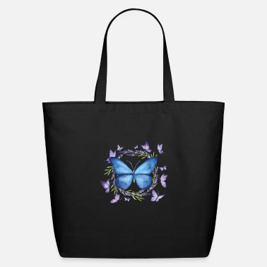 Butterfly Butterfly Watercolor Paint Insects Flowers Moth - Eco-Friendly Tote Bag
