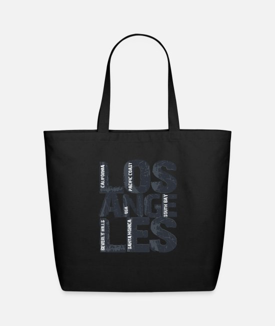 Hollywood Bags & Backpacks - Artistic Los Angeles California Gift Typographic - Eco-Friendly Tote Bag black