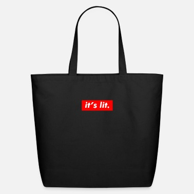 Get Turnt Up It's Lit Funny Summer Friend - Trendy Style - Eco-Friendly Tote Bag
