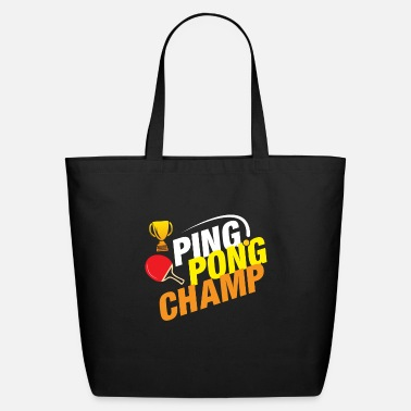 Master Ping Pong Champ Table Tennis - Eco-Friendly Tote Bag