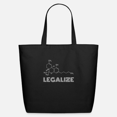 Legalize Thc, Funny Marijuana Molecule Structure - Eco-Friendly Tote Bag