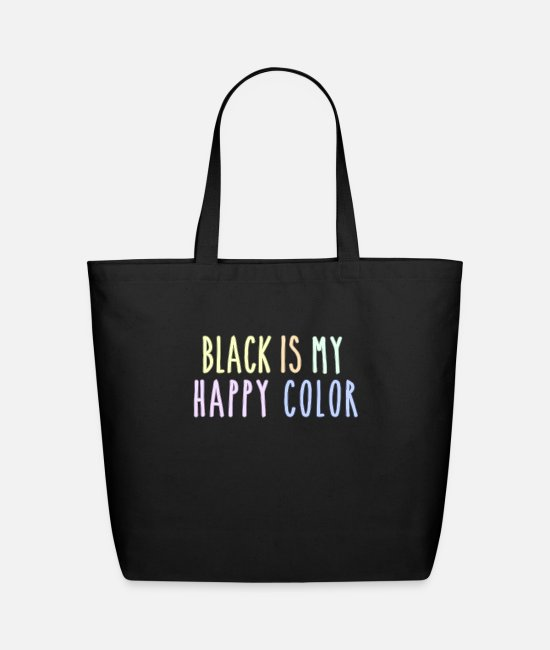 Witchcraft Bags & Backpacks - Funny Pastel Goth Gift Aesthetic Black Is My - Eco-Friendly Tote Bag black