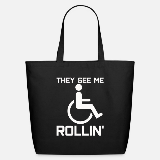Wheelchair Bags & Backpacks - PWD Disability Wheelchair Rollin - Eco-Friendly Tote Bag black