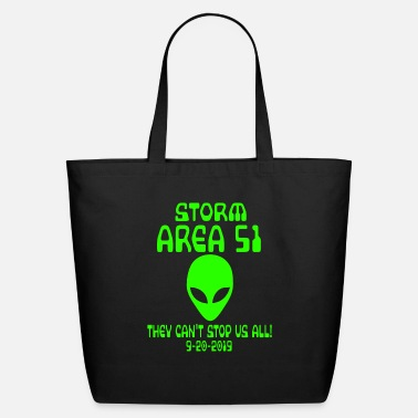 Area Storm Area 51 they cant stop us all Memes alien - Eco-Friendly Tote Bag