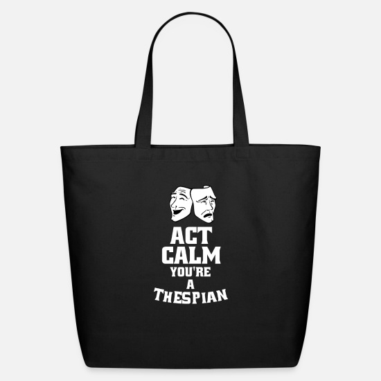 Theatre Bags & Backpacks - Theatre Thespian Actor Gift For a Theatre Lover - Eco-Friendly Tote Bag black