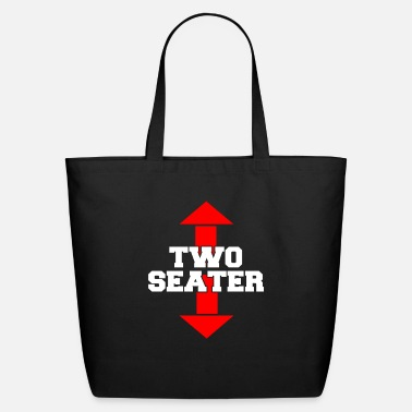 Humor Two Seater Arrow Funny Novelty Joke - Eco-Friendly Tote Bag
