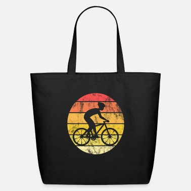Bike Bicycle, Road Bike Vintage Retro Style Colorful - Eco-Friendly Tote Bag