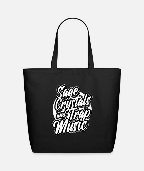 Bags & Backpacks - Sage Crystals Trap Music Queen Hip Hop Rap - Eco-Friendly Tote Bag black