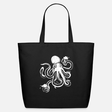 Drawn Octopus Beer Mugs Kraken Squid Ward Kalmar - Eco-Friendly Tote Bag